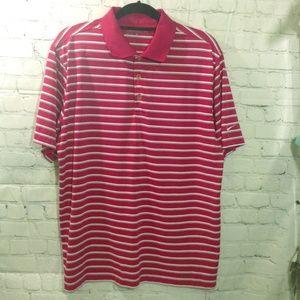 Nike Golf Fit Dry Men's Polo Shirt Pink L Striped